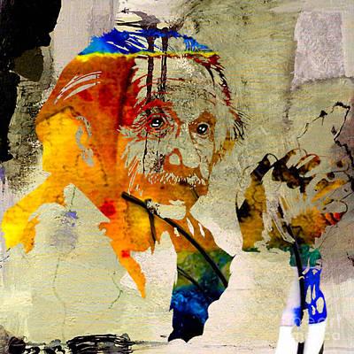 Physics Mixed Media - Albert Einstein by Marvin Blaine