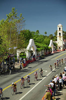 Ojai Wall Art - Photograph - Amateur Men Bicyclists Competing by Panoramic Images