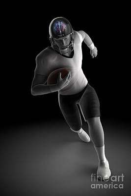 American Football Player Print by Science Picture Co