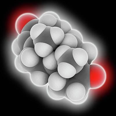 Androstenedione Hormone Molecule Art Print