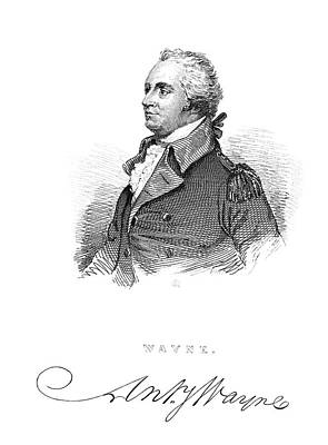 Lapel Painting - Anthony Wayne (1745-1796) by Granger