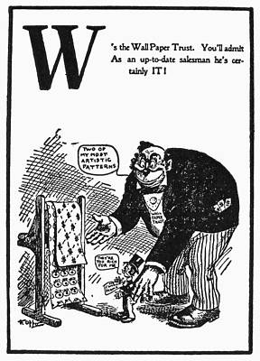Theft Painting - Anti-trust Cartoon, 1902 by Granger