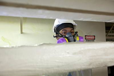 Asbestos Photograph - Asbestos Removal Training by Jim West