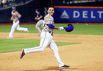 Photograph - Atlanta Braves V New York Mets by Jim Mcisaac
