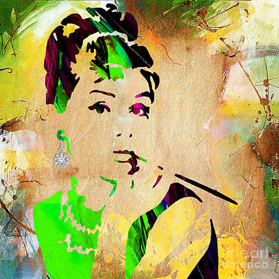 Audrey Hepburn Mixed Media - Audrey Hepburn Collection by Marvin Blaine
