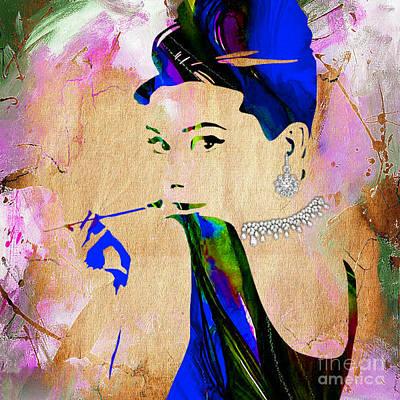 Audrey Hepburn Mixed Media - Audrey Hepburn Diamond Collection by Marvin Blaine
