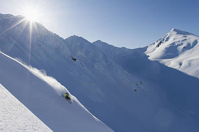 Backcountry Skiing In The Chugach Art Print