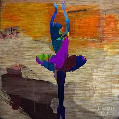 Mixed Media - Ballerina by Marvin Blaine