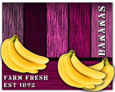 Banana Mixed Media - Bananas by Marvin Blaine