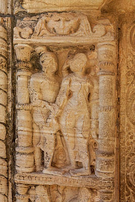 Low Relief Photograph - Bas Relief Chittaurgarh Citadel 6th by Tom Norring