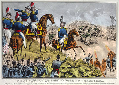 Mesoamerican Painting - Battle Of Buena Vista, 1847 by Granger