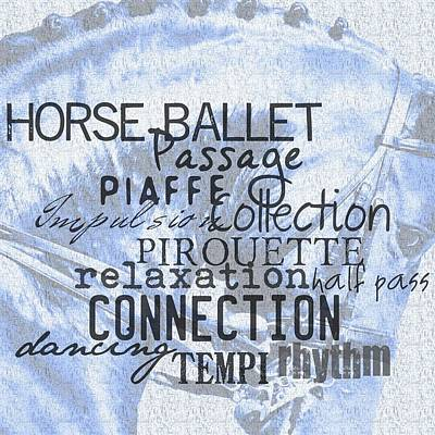 Photograph - Be Equestrian Blue by JAMART Photography