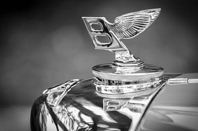 Photograph - Bentley Hood Ornament by Jill Reger