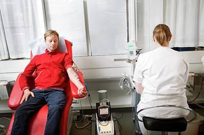 Blood Donation Clinic Art Print by Thomas Fredberg