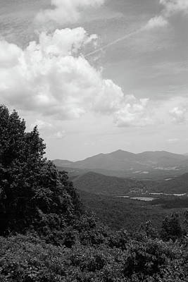 Photograph - Blue Ridge Mountains - Virginia Bw 3 by Frank Romeo