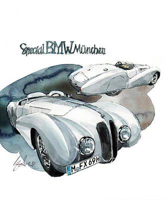 Special Bmw Munchen Art Print by Yoshiharu Miyakawa