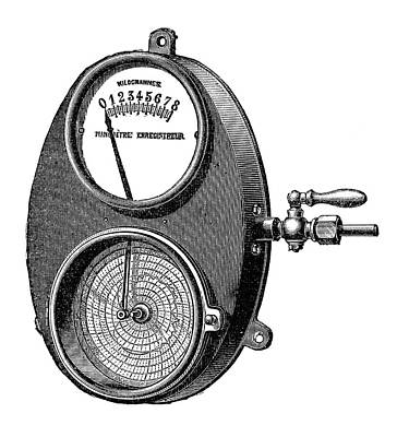 Boiler Photograph - Bourdon Pressure Gauge by Science Photo Library