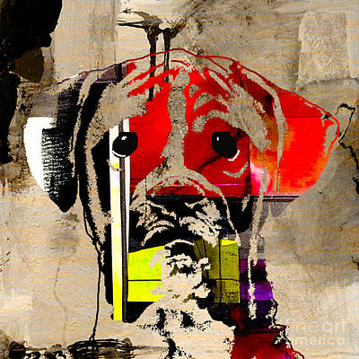 Pets Mixed Media - Boxer by Marvin Blaine