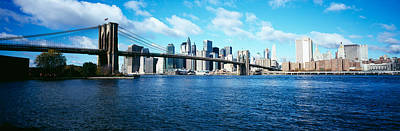 Bridge Across A River, Brooklyn Bridge Art Print by Panoramic Images