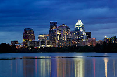 Austin Building Photograph - Buildings At The Waterfront Lit by Panoramic Images