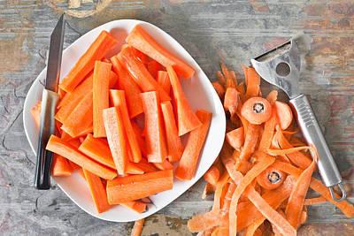 Carrot Wall Art - Photograph - Carrots by Tom Gowanlock