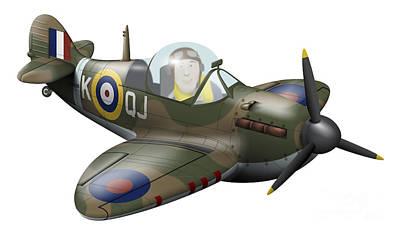Cartoon Illustration Of A Royal Air Art Print by Inkworm