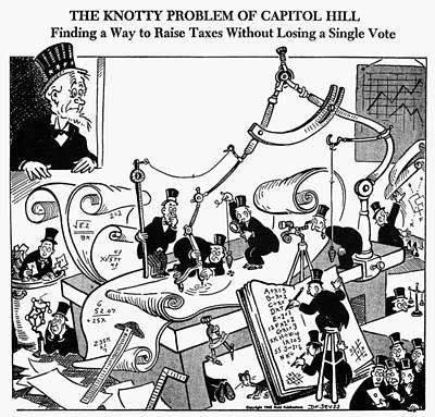 Accountant Wall Art - Photograph - Cartoon: World War II by Granger