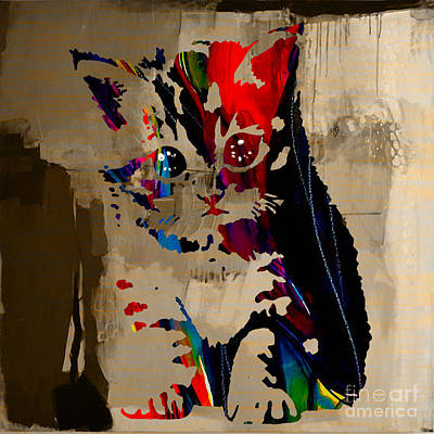 Cat Kitten Art Print by Marvin Blaine
