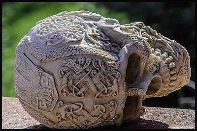 North America Photograph - Celtic Skulls Symbolic Pathway To The Other World by LeeAnn McLaneGoetz McLaneGoetzStudioLLCcom