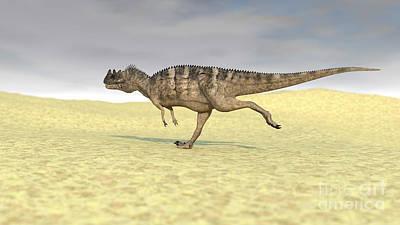 Studio Graphika Literature - Ceratosaurus Running Across A Barren by Kostyantyn Ivanyshen