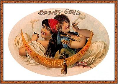 Cigar Label Art Print by Baltzgar