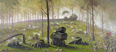Division Painting - Civil War Gettysburg, 1863 by Granger