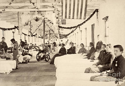 Armory Square Photograph - Civil War: Hospital by Granger