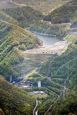 Coal Sludge Dam Art Print by Jim West