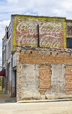 Coca-cola Signs Photograph - Coca Cola Sign On The Side Of A Brick Building In Hattiesburg Mi by ELITE IMAGE photography By Chad McDermott