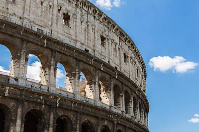 Urban Photograph - Colosseum - Rome Italy by Andrea Mazzocchetti