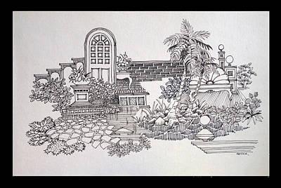 Lamp Post Drawing - Composition by Sanika Dhanorkar nee Meenal Pradhan