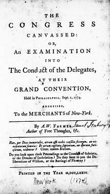 Continental Congress, 1774 Art Print by Granger