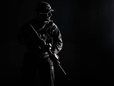 Photograph - Contour Shot Of U.s. Special Forces by Oleg Zabielin