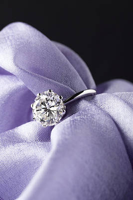 Elegant Engagement Ring Photograph - Diamond Ring by Stefania Levi