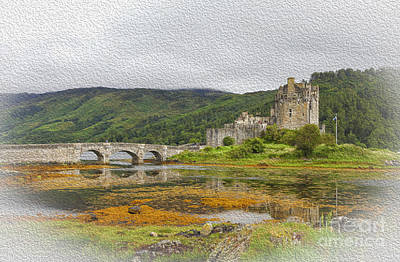Digital Art - Eilean Donan Castle by Patricia Hofmeester