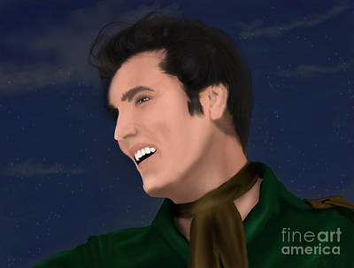 Digital Art - Elvis Presley    Loving You by Chitra Helkar