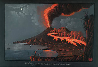 Eruption Of Mt. Vesuvius Art Print