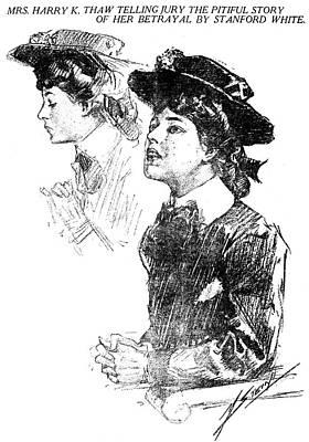 Stanford Drawing - Evelyn Nesbit (1885-1967) by Granger