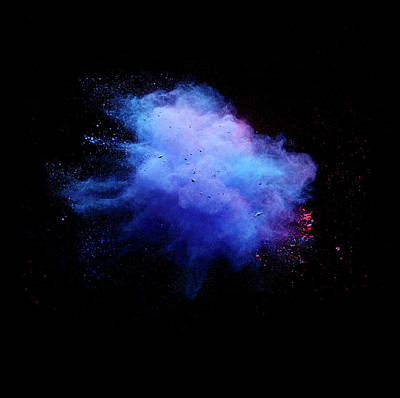 Photograph - Explosion Of Colored Powder by Henrik Sorensen