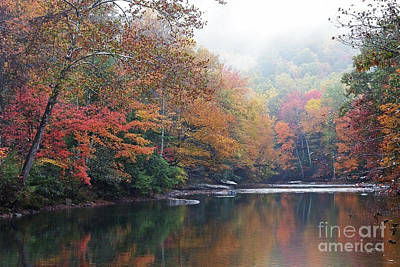 Fall Color Williams River Print by Thomas R Fletcher