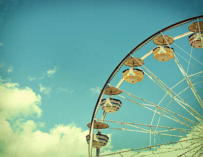 Wheel Photograph - Ferris Wheel by June Marie Sobrito