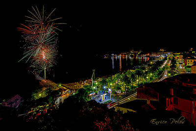 Photograph - Fireworks - Fuochi Artificiali by Enrico Pelos
