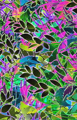 Floral Abstract Artwork Original by Medusa GraphicArt