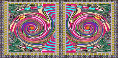 Disc Mixed Media - Focus Target Yoga Mat Chakra Meditation Round Circles Roulette Game Casino Flying Carpet Energy Mand by Navin Joshi